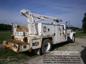 1989 Ford F800 Service Mechanic Truck - Used Equipment - KwikParts LLC
