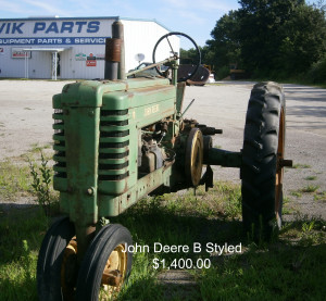 John Deere B Styled Tractor - Used Equipment - KwikParts LLC