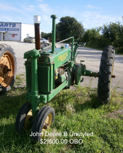 John Deere B Unstyled Tractor - Used Equipment - KwikParts LLC