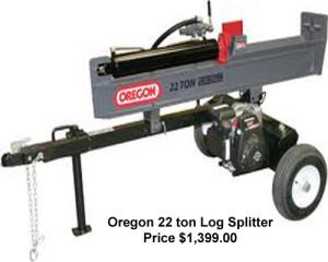 Oregon 22 Ton Log Splitter - New Equipment - KwikParts LLC